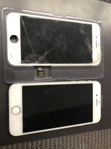 iPhone7白パネル